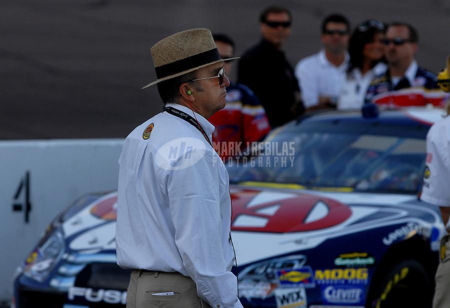 Nov. 12, 2006; Avondale, AZ, USA; Nascar Nextel Cup team owner Jack Roush during the Checker 500 at Phoenix International Raceway. Mandatory Credit: Mark J. Rebilas