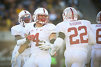 BERKELEY, CA-NOVEMBER 22, 2014- The Stanford Cardinal leads the California Golden Bears 24-7 at the half of the 117th Big Game at Memorial Stadium on the University of California campus.