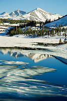 Icy Tioga Lake in its late spring thaw