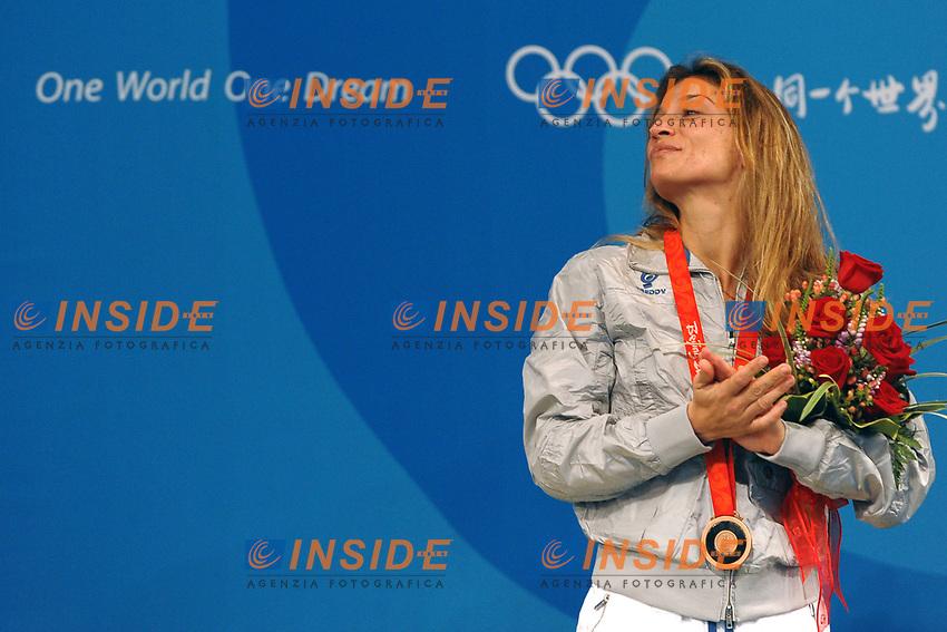Margherita Granbassi sul podio<br /> Fencing Hall - Scherma<br /> Pechino - Beijing 11/8/2008 Olimpiadi 2008 Olympic Games<br /> Foto Andrea Staccioli Insidefoto