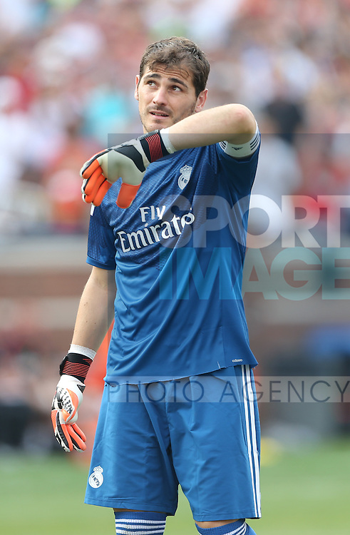 Iker Casillas of Real Madrid - International Champions Cup 2014 - Manchester United vs Real Madrid - Michigan Stadium - Ann Arbor - USA - 2nd August 2014 - Picture David Klein/Sportimage