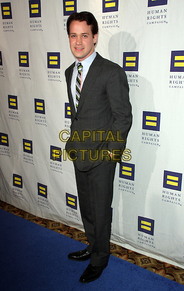 T.R. KNIGHT.The Human Rights Campaign's Annual Los Angeles Gala & Hero Awards held at the Hyatt Regency Plaza Hotel, Century City, California, USA, .14th March 2009..full length black suit tie .CAP/ADM/KB.©Kevan Brooks/Admedia/Capital PIctures