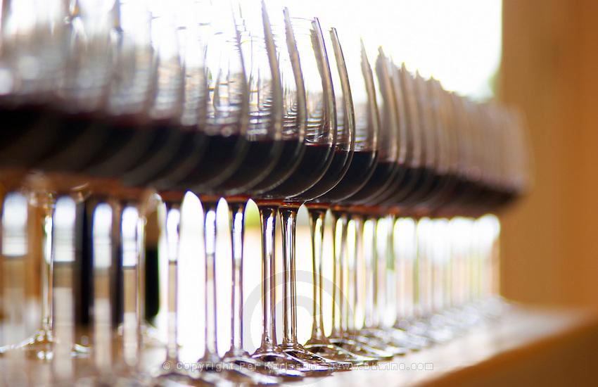 Wine tasting. Chateau Pichon Longueville Comtesse de Lalande, pauillac, Medoc, Bordeaux, France