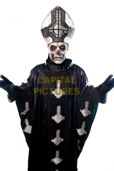 SANTA ANA, CA - APRIL 28: Portrait of Papa Emeritus of GHOST photographed in Santa Ana, CA USA on April 28, 2014. <br /> CAP/MPI/RTNSessions<br /> &copy;Photo Estrada/RTNSessions/MediaPunch/Capital Pictures