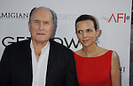 "BEVERLY HILLS, CA. - July 27: Robert Duvall and Luciana Pedraza arrive at AFI Associates & Sony Pictures Classics' premiere of ""Get Low"" held at the Samuel Goldwyn Theater inside The Academy of Motion Picture Arts and Sciences on July 27, 2010 in Beverly Hills, California."