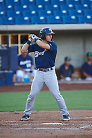 AZL Brewers Blue Alex Hall (33) at bat during an Arizona League game against the AZL Brewers Gold on July 13, 2019 at American Family Fields of Phoenix in Phoenix, Arizona. The AZL Brewers Blue defeated the AZL Brewers Gold 6-0. (Zachary Lucy/Four Seam Images)