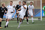 SALEM, VA - DECEMBER 3:Nathan Majumder (24) of Tufts University battles for the ball during theDivision III Men's Soccer Championship held at Kerr Stadium on December 3, 2016 in Salem, Virginia. Tufts defeated Calvin 1-0 for the national title. (Photo by Kelsey Grant/NCAA Photos)