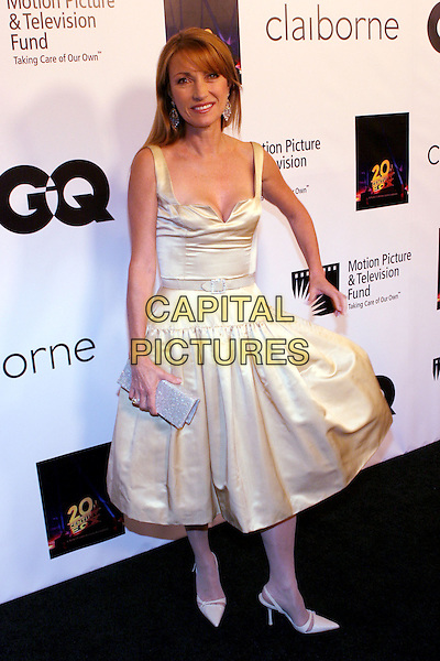 """JANE SEYMOUR.Celebrity Screening of """"Walk the Line"""" held at the Academy of Motion Picture Arts & Sciences, Beverly Hills, California . .November 10th, 2005.Photo: Zach Lipp/AdMedia/Capital Pictures.Ref: ZL/ADM.full length white dress silver clutch purse.www.capitalpictures.com.sales@capitalpictures.com.© Capital Pictures."""