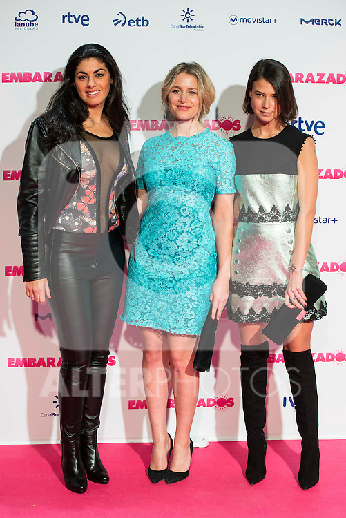 Nya de la Rubia, Lisi Linder and Andrea del Rio attends to the premiere of the film &quot;Embarazados&quot; at Capitol Cinemas in Madrid, January 27, 2016.<br /> (ALTERPHOTOS/BorjaB.Hojas)