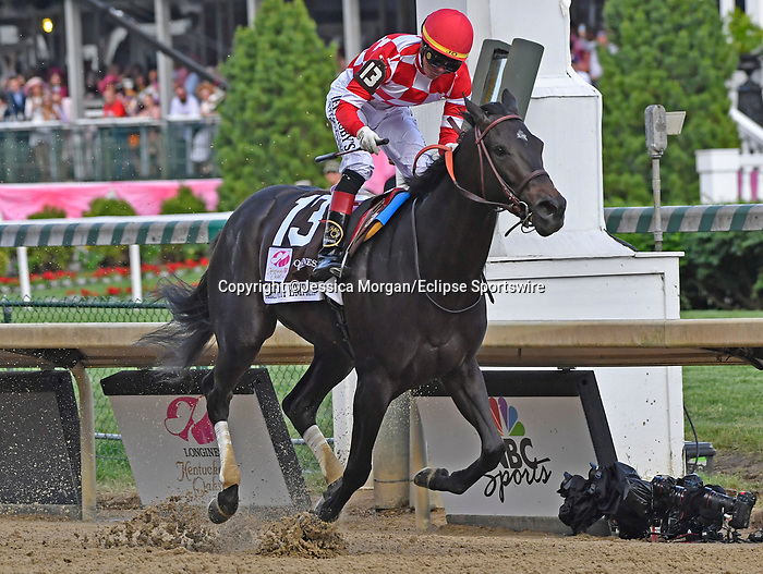 May 3, 2019 : Serengeti Empress, trained by Tom Amoss, wins the Kentucky Oaks (G1) at Churchill Downs on May 3, 2019 in Louisville, KY. Jessica Morgan/ESW/CSM