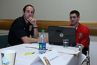 INDIANAPOLIS, IN - January 18, 2013: Western New York Flash technical staff. The National Women's Soccer League held its college draft at the Indiana Convention Center in Indianapolis, Indiana during the NSCAA Annual Convention.