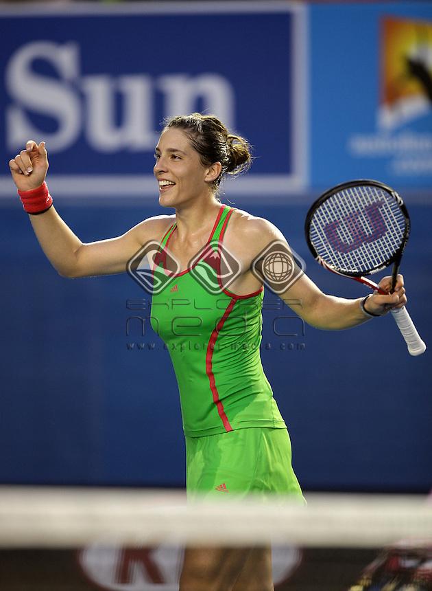 Andrea Petkovic (GER) v Maria Sharapova (RUS)<br /> Women's Single's -  Day 7<br /> Tennis - Australian Open 2011<br /> Melbourne Park<br /> Melbourne, Victoria, Australia<br /> 17 - 30 January 2011<br /> &copy; Sport the library