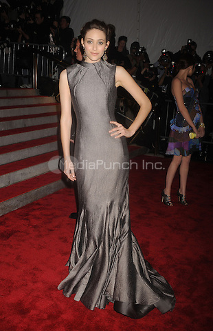 Emmy Rossum at 'The Model as Muse: Embodying Fashion' Costume Institute Gala at The Metropolitan Museum of Art in New York City. May 4, 2009. Credit: Dennis Van Tine/MediaPunch