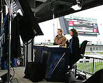 7 April 2007: ESPN's Rob Stone and Julie Foudy. The Colorado Rapids defeated DC United 2-1 at Dick's Sporting Goods Park in Denver, Colorado in the opening game of the MLS regular season.