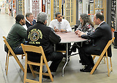 Alexandria, VA - December 15, 2009 -- United States President Barack Obama holds a meeting to discuss the economic impact of energy saving home retrofits with labor, manufacturing, and small business leaders at a Northern Virginia Home Depot store in Alexandria, Virginia on Tuesday, December 15, 2009..Credit: Ron Sachs - Pool via CNP
