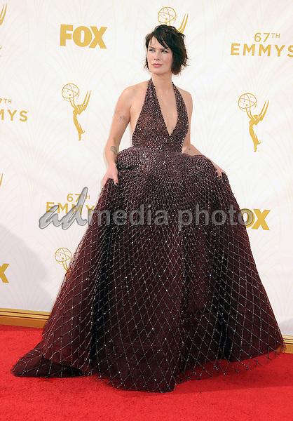 20 September 2015 - Los Angeles, California - Lena Headey. 67th Annual Primetime Emmy Awards - Arrivals held at Microsoft Theater. Photo Credit: Byron Purvis/AdMedia
