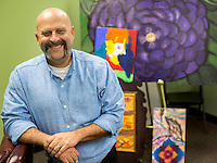 NWA Democrat-Gazette/JASON IVESTER <br /> Nathan Pollet; photographed on Wednesday, Nov. 4, 2015, inside the NWA Sunshine School and Development Center in Rogers for spotlight on Special Art Show event