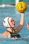 Manhattan Beach, CA 02/16/11 - Abby Oshiro (Edison #3) in action during the 2011 first round CIF girls waterpolo playoffs between Edison and Mira Costa.