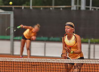 Netherlands, Rotterdam August 08, 2015, Tennis,  National Junior Championships, NJK, TV Victoria, Girls doubles:  Annick Melgers and Eva Vedder (R)<br /> Photo: Tennisimages/Henk Koster