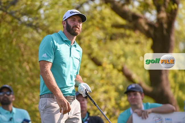 Dustin Johnson (USA) watches his tee shot on 12 during day 1 of the WGC Dell Match Play, at the Austin Country Club, Austin, Texas, USA. 3/27/2019.<br /> Picture: Golffile   Ken Murray<br /> <br /> <br /> All photo usage must carry mandatory copyright credit (© Golffile   Ken Murray)