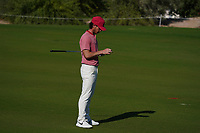 Kristoffer Broberg (SWE) on the 16th during Round 1 of the Commercial Bank Qatar Masters 2020 at the Education City Golf Club, Doha, Qatar . 05/03/2020<br /> Picture: Golffile | Thos Caffrey<br /> <br /> <br /> All photo usage must carry mandatory copyright credit (© Golffile | Thos Caffrey)