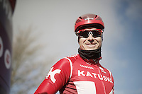 Alexander Kristoff (NOR/Katusha) before recon of the 114th Paris - Roubaix 2016