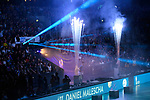 24.02.2019, SAP Arena, Mannheim<br /> Volleyball, DVV-Pokal Finale, VfB Friedrichshafen vs. SVG LŸneburg / Lueneburg<br /> <br /> Feature Einlauf / Teamvorstellung / Pyro - Daniel Malescha (#11 Friedrichshafen)<br /> <br />   Foto © nordphoto / Kurth