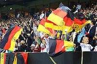Jubel bei den deutschen Fans - 06.09.2019: Deutschland vs. Niederlande, Volksparkstadion Hamburg, EM-Qualifikation DISCLAIMER: DFB regulations prohibit any use of photographs as image sequences and/or quasi-video.