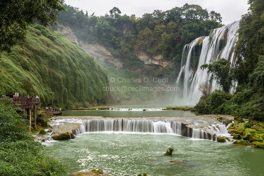 Guizhou Province, China.  Yellow Fruit Tree (Huangguoshu) Waterfall Scenic Area.