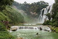 Guizhou Province, China.  Yellow Fruit Tree (Huangguoshu) Waterfall Scenic Area.