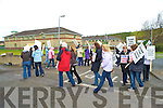 Civil servants from the Department of Justice in Killarney protest against the Governments pension levy on Thursday.......