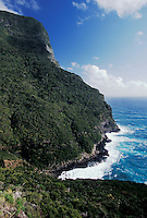 Mount Gower guided hike: rough seas at base of Mt. Gower, Lord Howe Island, NSW, Australia