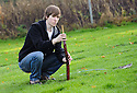 Pupils from Braes High School plant trees at Little Kerse..