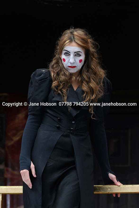 "London, UK. 26.04.17 Shakespeare's Globe presents ROMEO AND JULIET, by WIlliam Shakespeare, directed by Daniel Kramer, as part of Emma Rice's ""Summer of Love"" season. Picture shows: Kirsty Bushell (Juliet). © Jane Hobson."