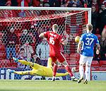 03.03.2019 Aberdeen v Rangers: Sam Cosgrove strokes his spot kick past Allan McGregor