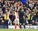 Arsenal's Francis Coquelin gets sent off<br /> <br /> - English Premier League - Tottenham Hotspur vs Arsenal  - White Hart Lane - London - England - 5th March 2016 - Pic David Klein/Sportimage