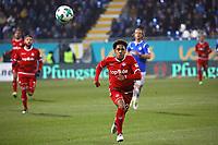 Philipp Mwene (1. FC Kaiserslautern) - 21.02.2018: SV Darmstadt 98 vs. 1. FC Kaiserslautern, Stadion am Boellenfalltor, 2. Bundesliga