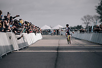 (the just turned 18) Tom Pidcock (GBR/U23/Telenet Fidea Lions) impressively wins the U23 race<br /> <br /> UCI cyclocross World Cup Koksijde / Belgium 2017