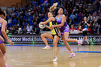 Pulse&rsquo; Mila Reuelu-Buchanan and Stars&rsquo; Fa&rsquo;amu Ioane in action during the ANZ Premiership - Pulse v Northern Stars at Te Rauparaha Arena, Porirua, New Zealand on Monday 25 June 2018.<br /> Photo by Masanori Udagawa. <br /> www.photowellington.photoshelter.com
