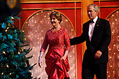 United States President George W. Bush and First Lady Laura Bush at the annual Ford's Theatre Gala in Washington, DC, which is being taped now for a Christmastime airing, on June 24, 2007.<br /> Credit: Chris Maddaloni / Pool via CNP