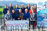 launching the  Killarney Lions Club 'Kerry Clubs Fair' sponsored by Killarney Credit Union in Killarney Race Course on Friday Front Row L-r: Assumpta Sweeney (KDYS), Megan Daly Tyrell (Killarney Race Course), John Fuller (Chapter 23), Christy Killeen (Chapter 23) & Nancy Hegarty (Killarney Active Retirement & Muckross ICA). Back Row L-r: Denis Doolan (Lions Club), Tim O'Donoghue (KDYS), Garda Darren Rowan, Donal McCarthy & Ian Holohan (Order of Malta), Helen Courtney Power (Killarney Credit Union) & Ronan Doyle (Lions Club)