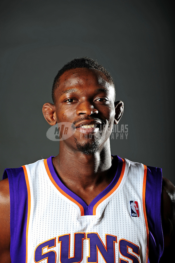 Dec. 16, 2011; Phoenix, AZ, USA; Phoenix Suns guard Jeremy Hazell poses for a portrait during media day at the US Airways Center. Mandatory Credit: Mark J. Rebilas-
