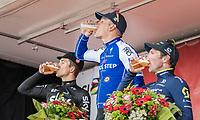 victory cheers/beers for:<br /> 1/ Philippe Gilbert (BEL/Quick Step floors)<br /> 2/ Michal Kwiatkowski (POL/SKY)<br /> 3/ Michael Albasini (SUI/Orica-Scott)<br /> <br /> 52nd Amstel Gold Race (1.UWT)<br /> 1 Day Race: Maastricht › Berg en Terblijt (264km)