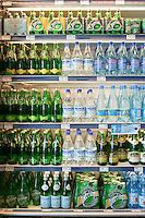 Various brands of bottled mineral water are seen in a Metro grocery store in Quebec city March 4, 2009.
