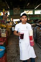Cemitas las Poblanitas in Puebla's food market.  Puebla, Puebla.