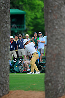 Thorbjorn Olesen (DEN) on the 17th tee during the 2nd round at the The Masters , Augusta National, Augusta, Georgia, USA. 12/04/2019.<br /> Picture Fran Caffrey / Golffile.ie<br /> <br /> All photo usage must carry mandatory copyright credit (© Golffile | Fran Caffrey)