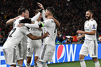 Gareth Bale of Real Madrid celebrates with team mates after scoring a goal  during the Uefa Champions League 2018/2019 Group G football match between AS Roma and Real Madrid atOlimpico stadium , Rome, November, 27, 2018 <br />  Foto Andrea Staccioli / Insidefoto