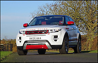 BNPS.co.uk (01202 558833)<br /> Pic: H&amp;H/BNPS<br /> <br /> Range Rover Evoque with only 400 miles on the clock  - &pound;28,000.<br /> <br /> The &pound;1,000,000 garage sale... a stunning collection of luxury cars seized from the personal collection of a Middle Eastern sheikh has emerged. <br /> <br /> The impressive fleet, comprising Ferrari, Rolls-Royce and Bentley motors, has arrived at auction following a high court ruling against their former owner.<br /> <br /> Due to their unusual history many of the cars, all of which were UK based and have unusually low mileages, are being offered at a bargain price.