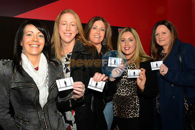 They've got their tickets for Fifty Shades of Grey (from left) Brenda Hayes, Elaine Connolly, Joanne Dawson, Gillian Meade and Anna Behan. Picture: Newsfile