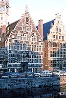 Ghent: Granary on Graslei. Photo '87.